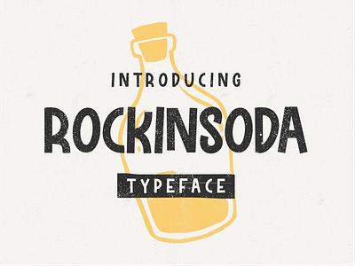 Rockinsoda typogaphy logo poster kids classic illustration script signature font