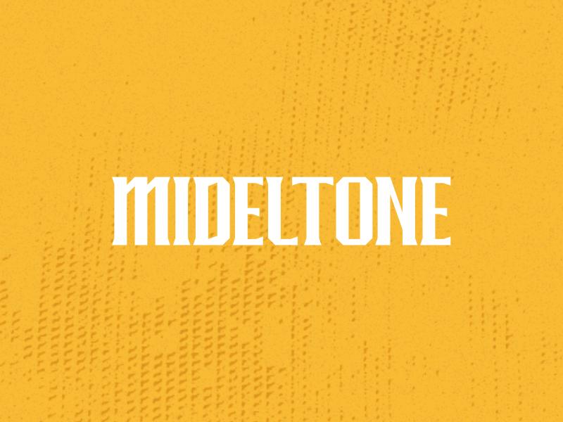 Mideltone font bundle typo logo poster typography lettering black letter display font type font