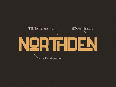 Ligatures Of Northden ligatures badge classic vintage sans serif bold sans logo typography calligraphy lettering type font