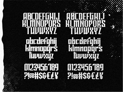 Mideltone Character rough character badge lettering typography poster classic vintage blackletter font