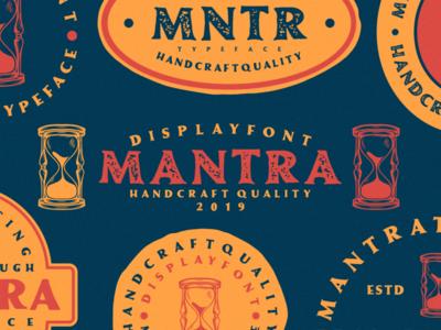 Mantra Vintage Font victorian retro label packaging font label rough classic vintage font