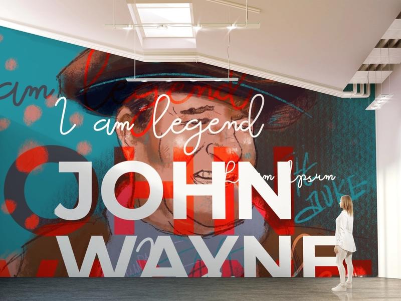 John Wayne Wall Art - Urban Dining Concept illustration concept art restaurant cowboy graffiti wallart