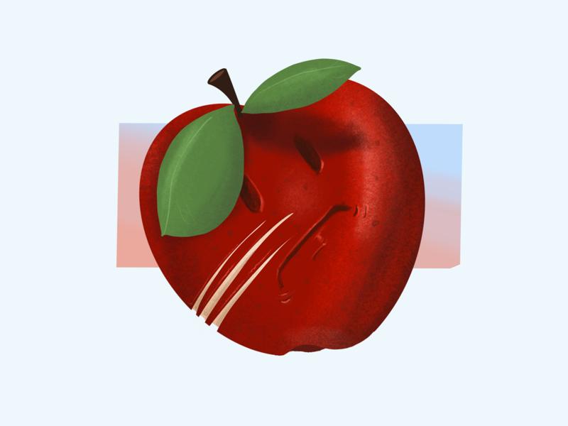 VeggieFails - Bad (Day) Apple food apple cartoon funny illustration