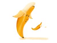 VeggieFails - Banana Peel Out illustration art cute illustrations concept art food cartoon funny