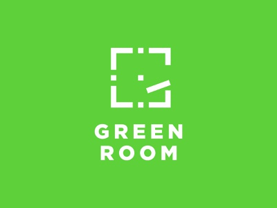 Green Room (Concept) door photography just for fun branding vector no pen concept design greenroom green room room green g logo
