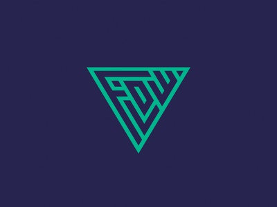 Flow Kite School Sicily color typography typo triangle surf sicily school logo kite flow abstract
