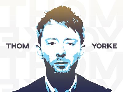Tom Yorke /Radiohead/ vector blend threshold thom yorke fun art radiohead