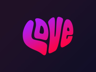 Love vector draw shape heart bubble typo just for fun love