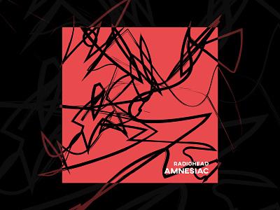 Amnesiac by Radiohead cd music album challenge dribbbleweeklywarmup digital art illustration draw favourite cover amnesiac radiohead