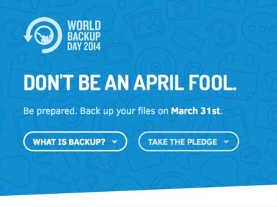 It's World Backup Day!