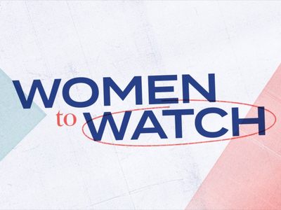 Women to Watch design segment typography mograph news after effects animation tv motion graphics