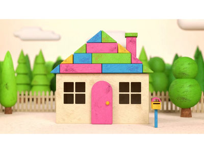 Unschooling stop motion octanerender cinema 4d wood toy kids colour 3d modeling design motion graphics after effects tv animation