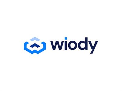Wiody Software Logo Design upload logo cloud logo w letter branding design brand identity brand brand design logo design branding logos logodesign logotype logo design logo branding icon typography design