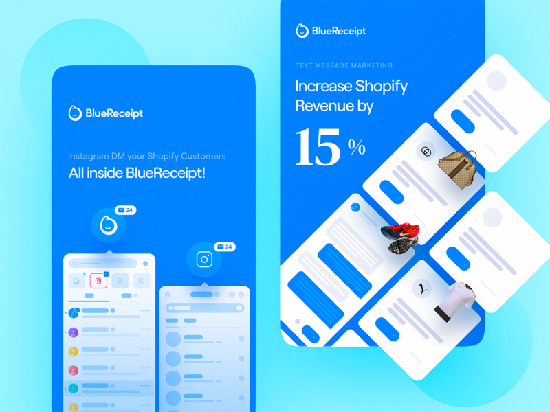 BlueReceipt: Instagram Story Ads / 3 unique style story ads social media design social media profile instagram template instagram stories instagram banner instagram post instagram figma grid custom clean design bluereceipt team bluereceipt blue ad design ad campaign
