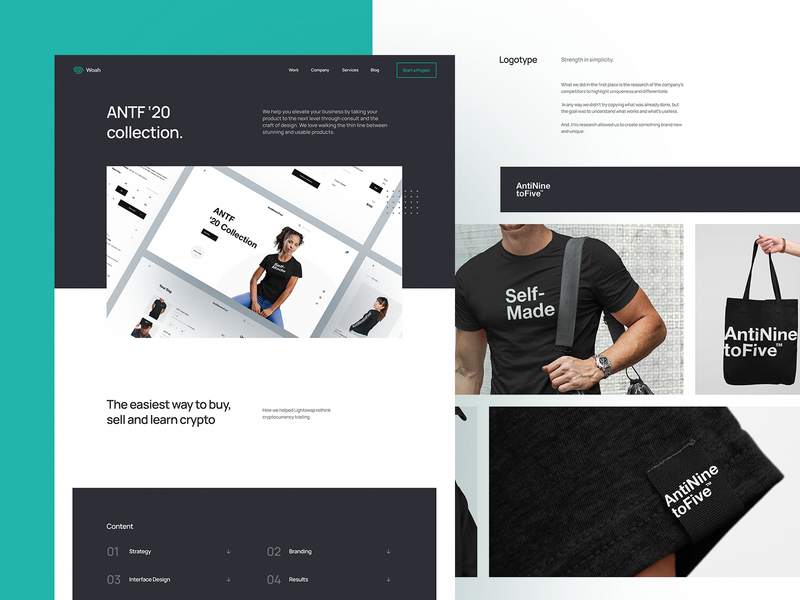 Agency Case Study Page agency card agency branding website designer website design website case study page study case case study user experience ui design ux landing page landing interface business agency landing page agency website agency