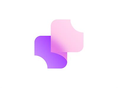 S Letter + Puzzle identity brand branding design brand identity brand design purple logo pink logo logodesign logos logotype logo puzzle purple pink vector logo design branding typography design