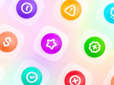 Blue Icon Set - Colored figma colored blue icon icons pack icon design icons set icon set iconset icons big sur apple 3d ui ux icon design