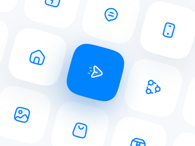 Blue Icon Set user interface user experience icon design icons pack icons set iconset vector bluereceipt chat icon phone icon image icon home icon bag icon send icon icon set icons icon blue icons blue icon