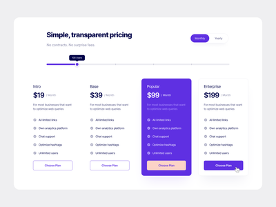 Pricing Section 01 section simple purple flat web ui ux pricing plans pricing table pricing plan pricing page pricing typography design