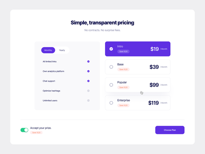 Pricing Section 02 designer designs simple section purple pricing plans pricing table pricing plan pricing page pricing price ui ux typography design