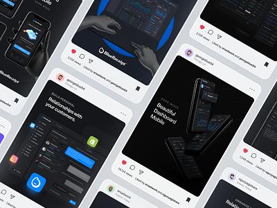 Customer Relationship Instagram Post Ads social media design social media socialmedia social blue awwwards typography design
