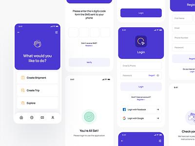Travel Mobil App / Steps application ui application design steps login mobile ui mobile app designer app design mobil application mobil app application app web ux ui typography design