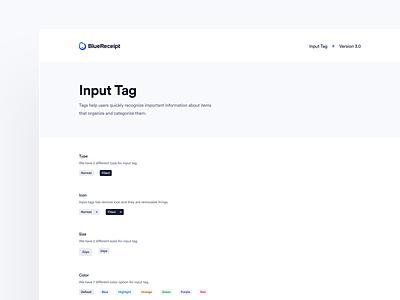 BlueReceipt's Design System: Pangea ✶ Input Tag tag design system saas product blue design system tag system library tag input tag input design