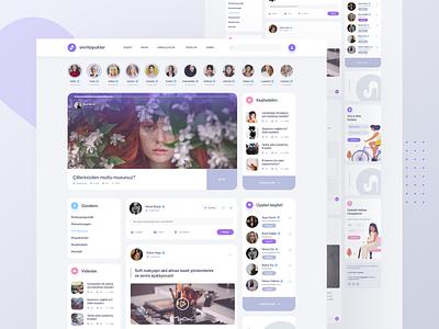 Women's Portal Landing Page / Sivri Topuklar woman web womans portal landing page branding web design ux ui design