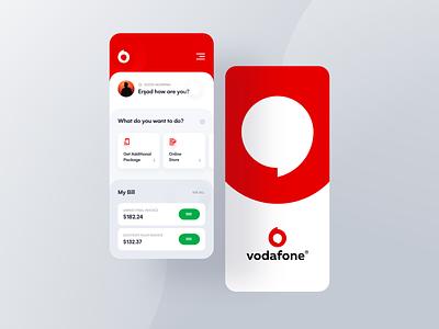 Vodafone Mobil Application / re-design user interface user experience vodafone icon app mobile app design app design mobile app typography ui design ux
