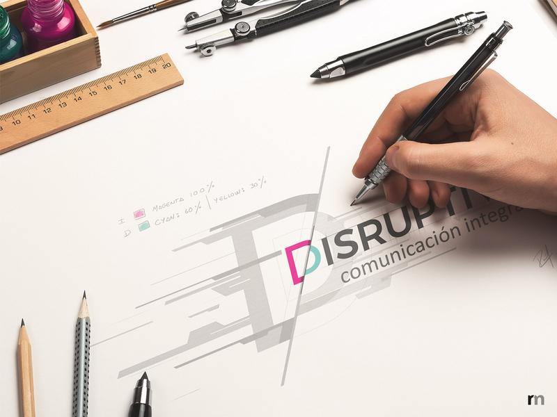 Disruptiva Agency branding: Logo + Key art process