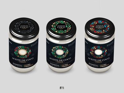 Natrius: Aceite de coco PREMIUM packaging - Design process