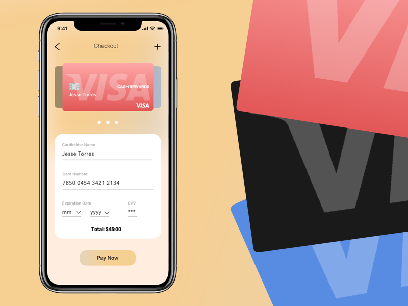 Daily UI Challenge #002 credit card checkout concept 002 daily 100 dailyui credit card payment credit card form credit card mobile app development mobile app design mobile app mobile iphone 10 design ux ui