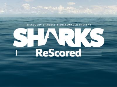 Sharks ReScored logo lockup logotype sharkweek volkswagen vw