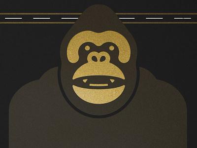 KING gold illustration king kong monkey