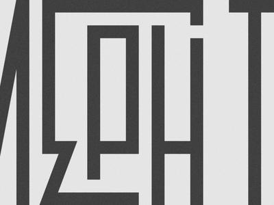 New personal mark typography hood barrio