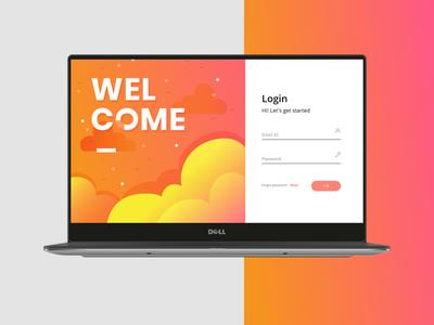 Clean Login screen concept