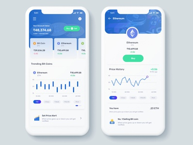 Simple Mockup Free Scene interfacedesign ios app ui ux clean ui financial app trading crypto currency app blue minmalist dailyui concept bitcoin cleanui app design app