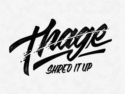 Thage casuals motorcyle logo hand lettering script
