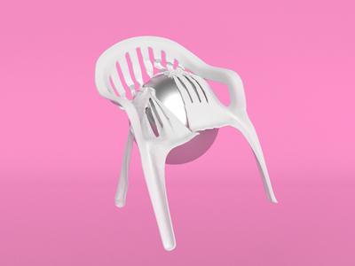 monobloc meltdown 3d chair plastic monobloc