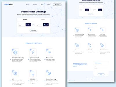Crypto Exchange and transfer Website UI Design - Light Theme
