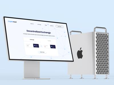 Crypto Exchange Mac Mockup Website UI Design - Light Theme