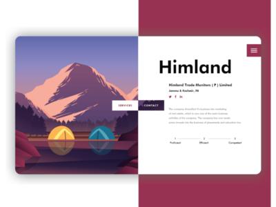 Himland - Landing Page Ui Design