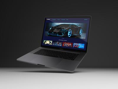 Sleek - Gaming website landing page