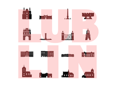 lublin city icons icon