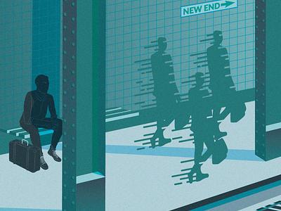 Metro vector design illo illustration