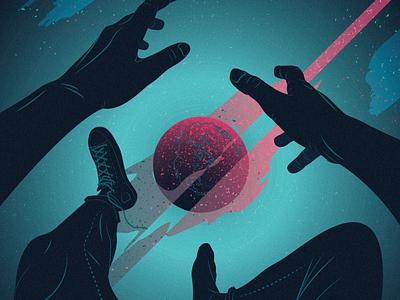 Wracam space vector design illo illustration