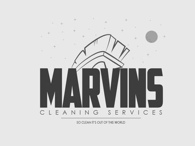Marvins Cleaning Services thefictionrelocationproject frp logo space vector illustration cleaning clean stars