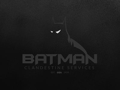 Batman Clandestine Services batman logo thefictionrelocationproject frp dark vector illustration branding