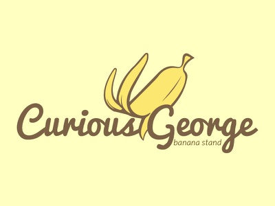 Curious George Banana Stand banana banana stand monkey curious george vector logo frp thefictionrelocationproject