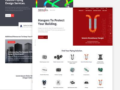 Metraflex :: Homepage hero red homepage products modern bold web design web ux ui